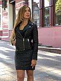 Черная брендовая куртка с вышивкой, фото 4