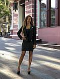 Черная брендовая куртка с вышивкой, фото 8