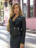 Черная брендовая куртка с вышивкой, фото 10