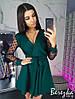 Платье комбинезон женское красивое с рукавами из сетки в горошек и пышной юбкой  Sms2989