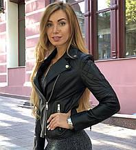 Черная брендовая куртка с вышивкой