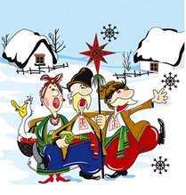 Декупажная салфетка Рождественские гости 3803