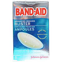 Band Aid, Adhesive Bandages, Advanced Healing Blister, 6 Cushions