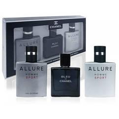 Подарочный набор парфюмерии для мужчин Chanel Eau de Toilette (3х25ml)