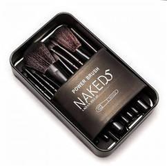 Набор кистей для макияжа NAKED5 (12 шт в металле) реплика
