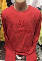 Мужские хлопковые турецкие  футболки Philipp Plein с длинным рукавом