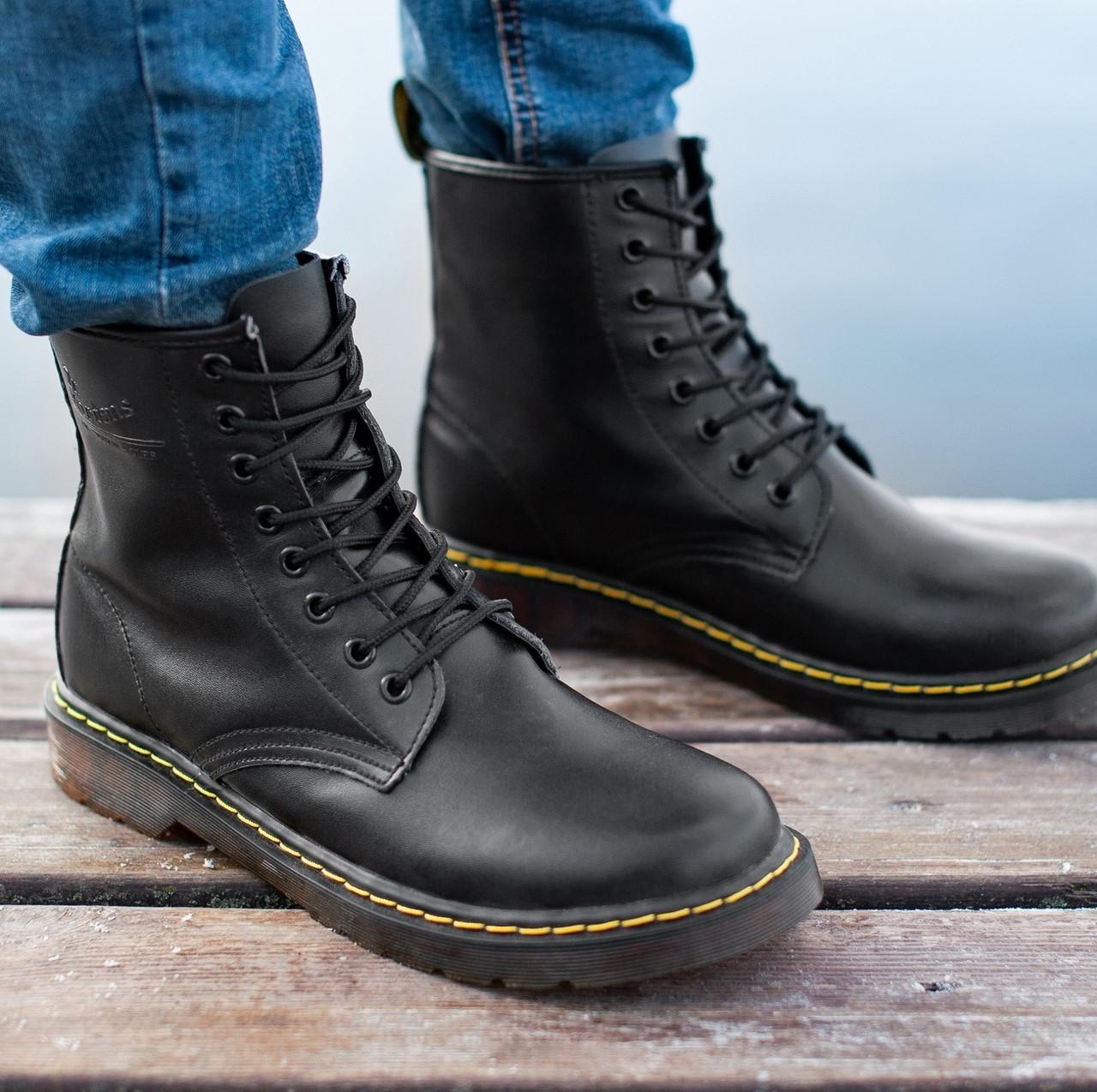 Мужские и женские ботинки Dr. Martens 1460 Black, демисезон - без меха
