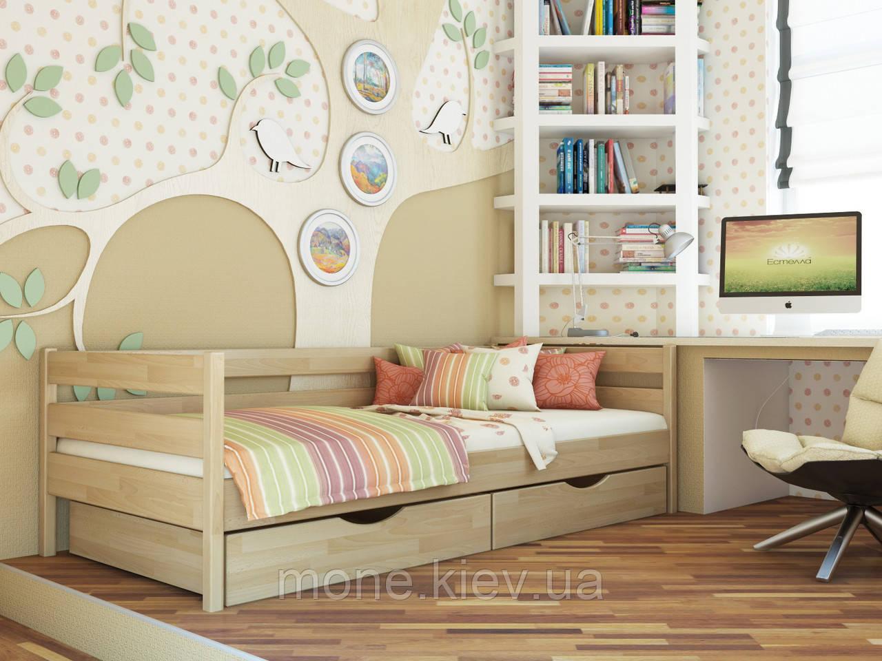 Ліжко односпальне з ящиками/ з шухлядами Нота