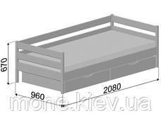 Кровать односпальная с ящиками/ с шухлядами Нота, фото 3