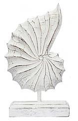 Ракушка декоративная белая, h-36 20410.1e