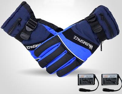 Рукавички лижні з підігрівом кожного пальця WARMSPACE-P1 + акумулятори 2000мАч + зарядний. 40-55 З