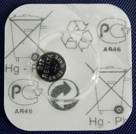 Батарейка для часов RENATA 317 SR516W 1,55 v