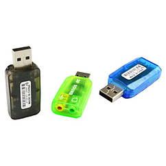Звуковая Карта для Ноутбука и Персонального Компьютера Dynamode USB Sound Card 2