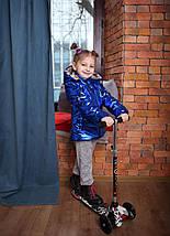 Весення куртка с капюшоном, теплая детская куртка, фото 3