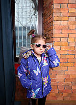 Весенняя куртка для девочки синяя с принтом Фея Новинка 2019, фото 3