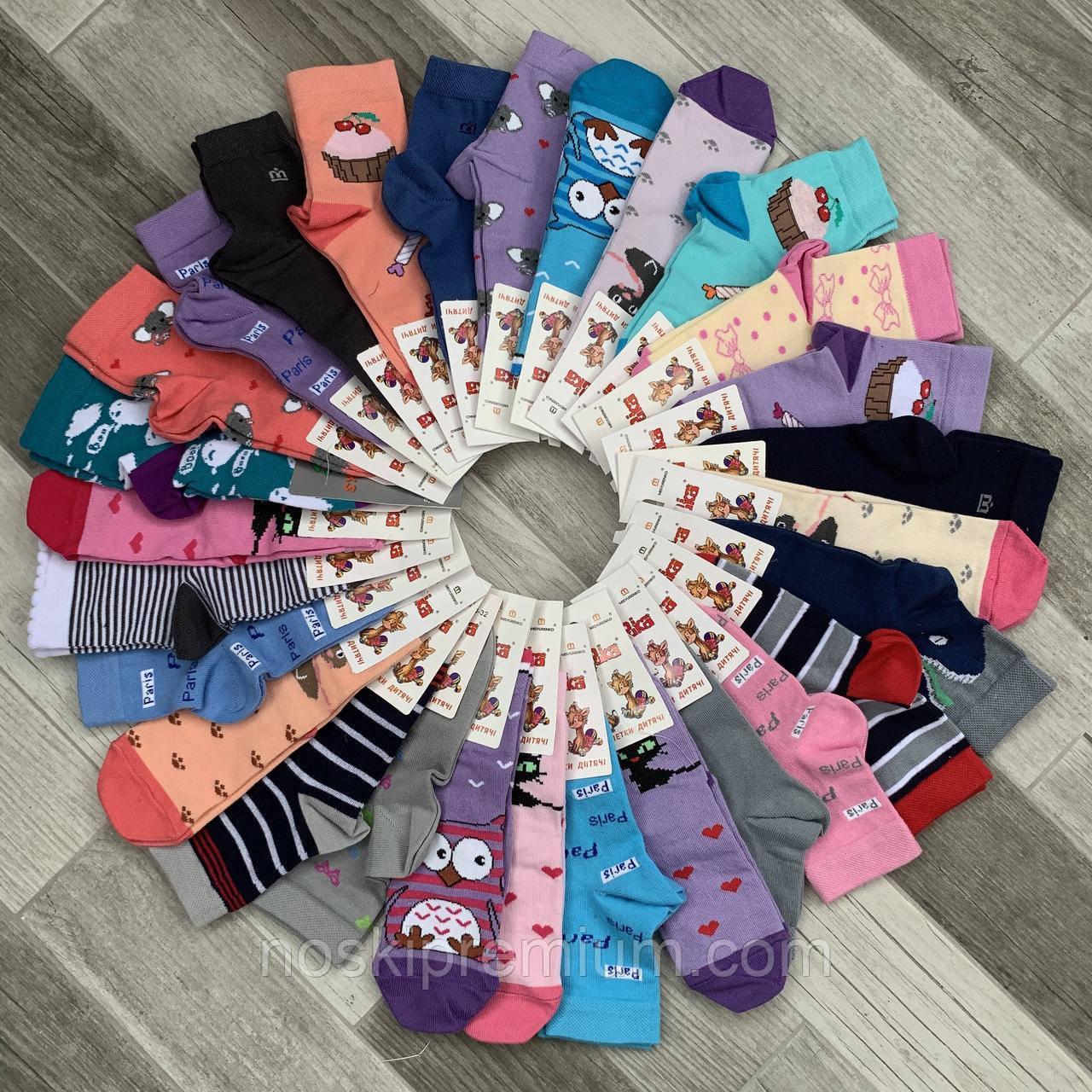 Шкарпетки дитячі демісезонні х/б Місюренко, 15-17, 10 розмір, асорті