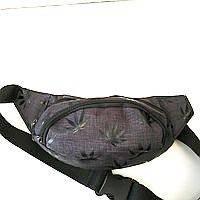 Сумка на пояс на 2отд. под джинс (черный)14*36см, фото 1