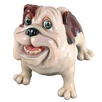 Фигурка-статуэтка собачка бульдог «Батч» коллекционная из керамики Англия, h-18 см 340-1033