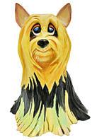 Фигурка-статуэтка коллекционная с керамики, Англия, собачка «Вайфи», h-19,5 см 340-1082