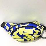 Спортивная сумка на пояс текстиль Nike КАЧЕСТВО (синий)14*36см, фото 3