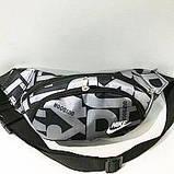 Спортивная сумка на пояс текстиль Nike КАЧЕСТВО (синий)14*36см, фото 5