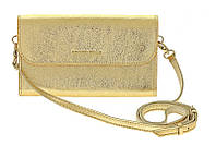 Клатч Grande Pelle Practico, золото, кожа, фото 1
