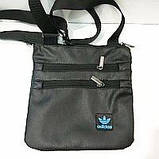 Спортивні барсетки кожзам Adidas (чорний)23*24см, фото 3