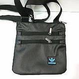 Спортивные барсетки кожзам Adidas (черный)23*24см, фото 3