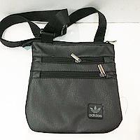 Спортивні барсетки кожзам Adidas (чорний)23*24см