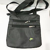 Спортивные барсетки кожзам Nike (черный+желтый)23*24см