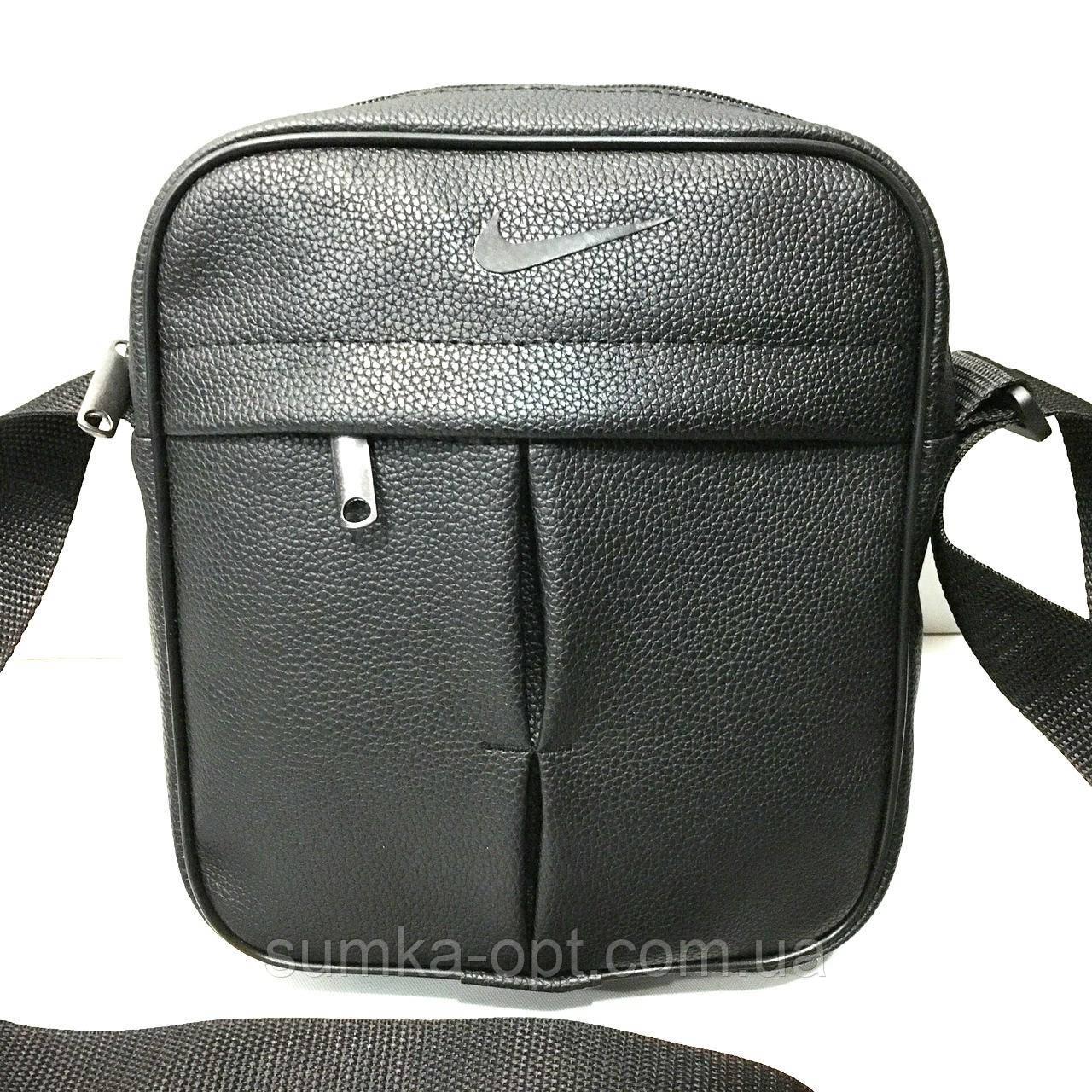 Спортивні барсетки кожзам Nike (чорний)20*24см