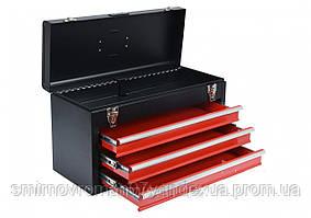 Ящик для инструментов металлический YATO с тремя шуфлядами 218 х 300 х 520 мм