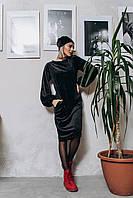 """Стильное платье мини """" Велюр """" Dress Code , фото 1"""