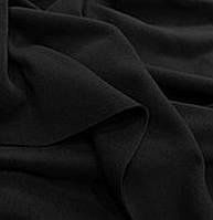 Трикотаж однотонный с начёсом  чёрный
