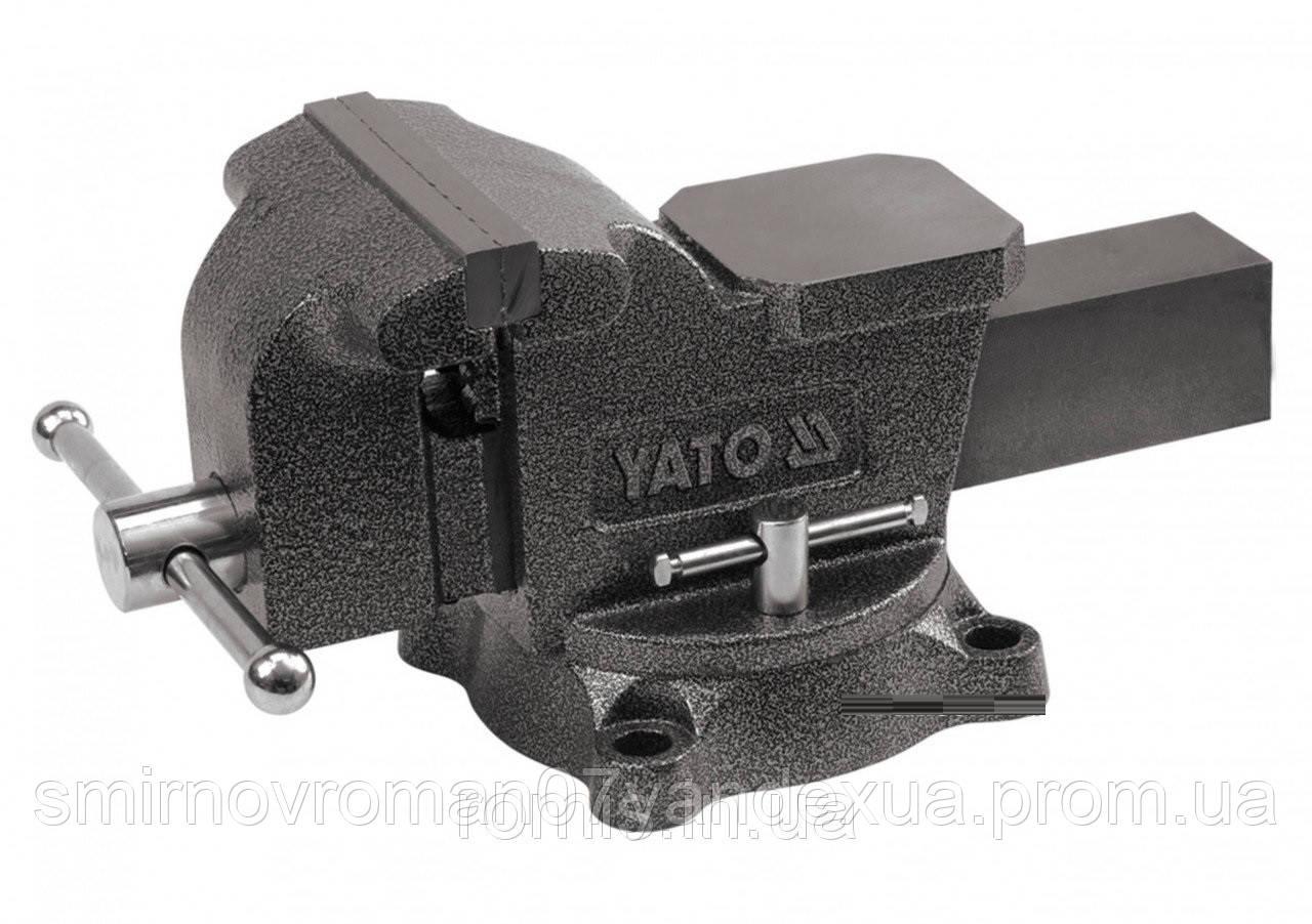 Тиски слесарные YATO поворотные с наковальней 150 мм 19 кг