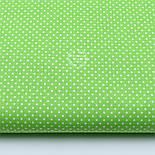 """Лоскут ткани """"Густой горошек 2 мм"""" на салатовом фоне, №1853а, фото 2"""