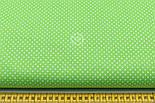 """Лоскут ткани """"Густой горошек 2 мм"""" на салатовом фоне, №1853а, фото 3"""