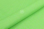 """Лоскут ткани """"Густой горошек 2 мм"""" на салатовом фоне, №1853а, фото 4"""