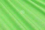 """Лоскут ткани """"Густой горошек 2 мм"""" на салатовом фоне, №1853а, фото 5"""