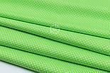 """Лоскут ткани """"Густой горошек 2 мм"""" на салатовом фоне, №1853а, фото 6"""