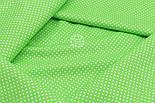 """Лоскут ткани """"Густой горошек 2 мм"""" на салатовом фоне, №1853а, фото 7"""