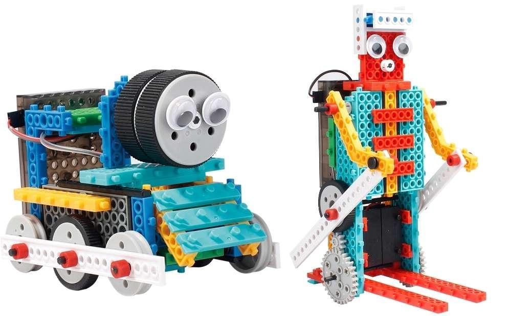 Конструктор на и/к LongYeah R722 4-в-1. паровозик, машинка, лыжник, робот