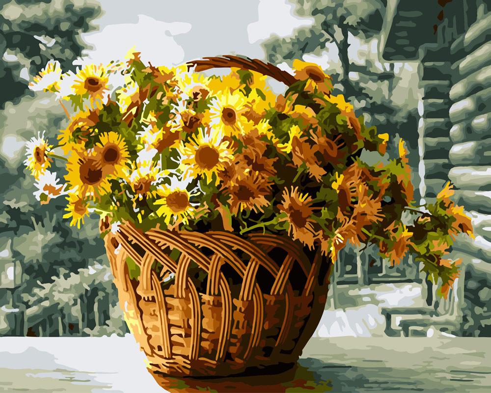 "Картина по номерам ""Жёлтые хризантемы"""