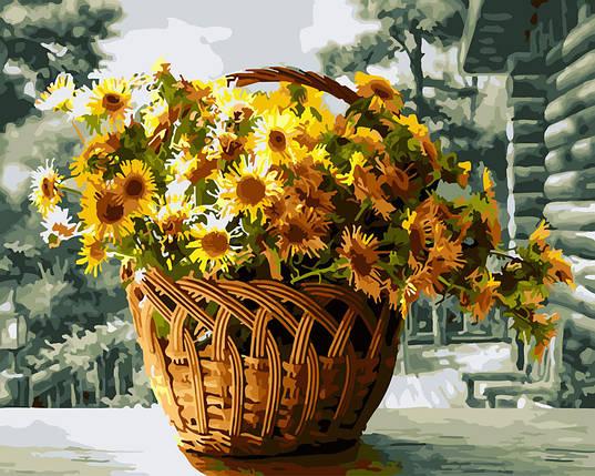 """Картина по номерам """"Жёлтые хризантемы"""", фото 2"""
