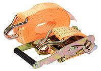 Ремінь для кріплення багажу з тріщаткою VOREL, сила натягу- 150/300 кгс, 8 м х 50 мм, 2 шт.