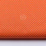 """Отрез ткани """"Густой горошек 2 мм"""" на оранжевом фоне, №1855а, размер 90*160, фото 2"""