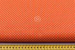 """Отрез ткани """"Густой горошек 2 мм"""" на оранжевом фоне, №1855а, размер 90*160, фото 3"""