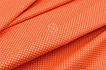 """Отрез ткани """"Густой горошек 2 мм"""" на оранжевом фоне, №1855а, размер 90*160, фото 4"""