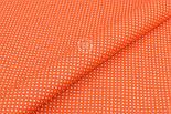 """Отрез ткани """"Густой горошек 2 мм"""" на оранжевом фоне, №1855а, размер 90*160, фото 5"""