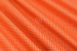 """Отрез ткани """"Густой горошек 2 мм"""" на оранжевом фоне, №1855а, размер 90*160, фото 6"""